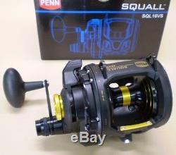 Penn Squall 16VS Lever Drag 2 Speed Saltwater Fishing Reel Model SQL16VS