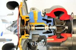 RDT T3/T4 T04E. 57 AR T3 Flange 5 Bolt Exhaust Quick Spool Turbo Turbocharger