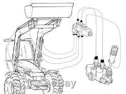 Remote control kit 2 spool valve 80lpm/21gpm+cables+joystick+selector valve 12V