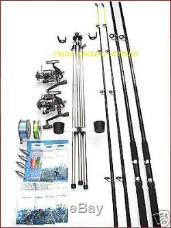 Sea Fishing Kit / Set Up 2 Rod 2 Reel Tripod + Tackle