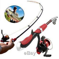Spinning Fishing Rod Reel Set Combo Carbon Ultra Light Fishing Pole Tackle Tools