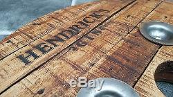 Vintage Retro Hendricks Gin Bar Table Round Cable Reel hairpin legs Coffee Table