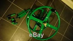 Wall mounted metal hose reel for upto 75m garden hose