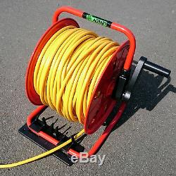 Water Fed Pole Metal Hose Reel With 100 m of 6 mm Hose & Bracket Window Cleaning