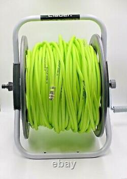 Window Cleaning Hose Reel with 100m 6mm high vis Hose complete
