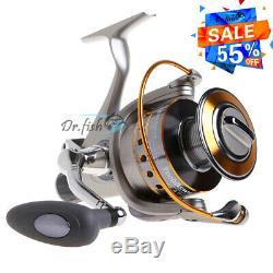 YOSHIKAWA Large Spinning Reel Fishing Baitfeeder Saltwater Surf Catfish 6000